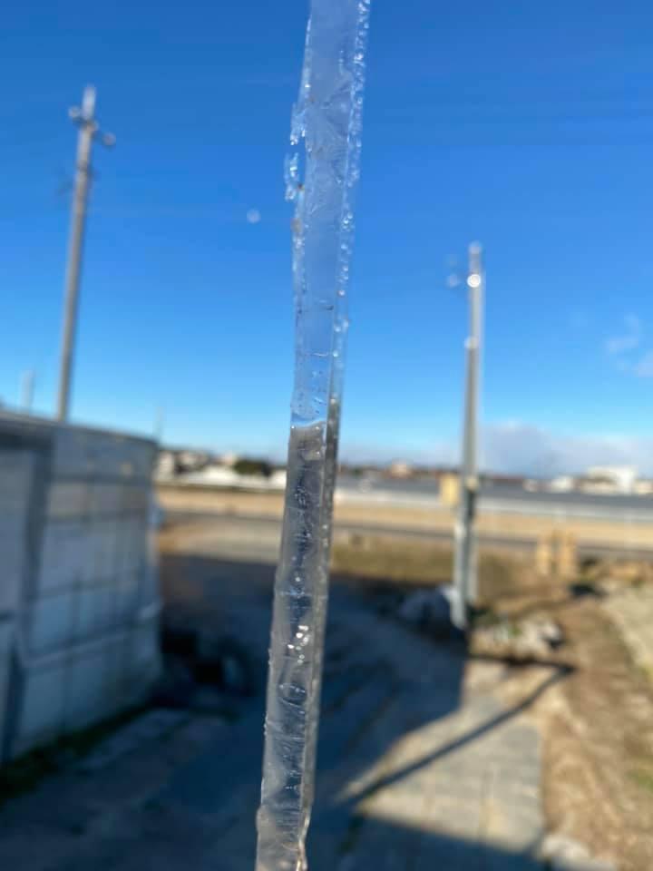 5mmの氷がはりました